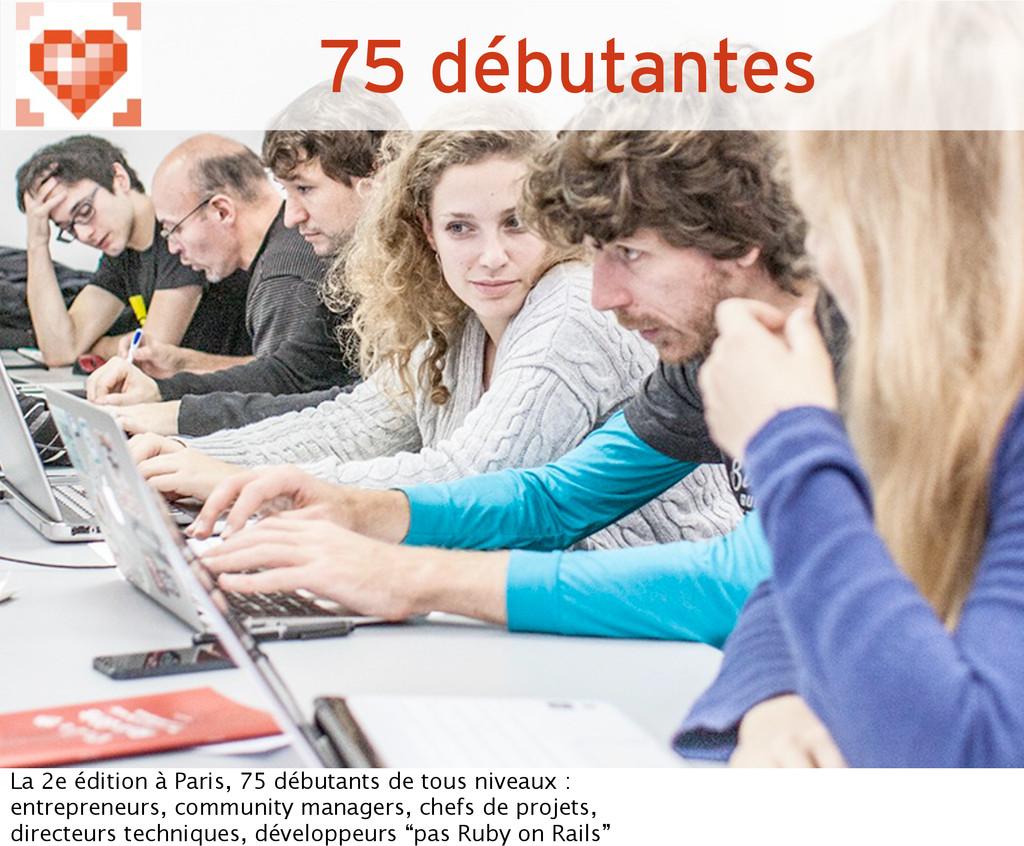 75 débutantes La 2e édition à Paris, 75 débutan...