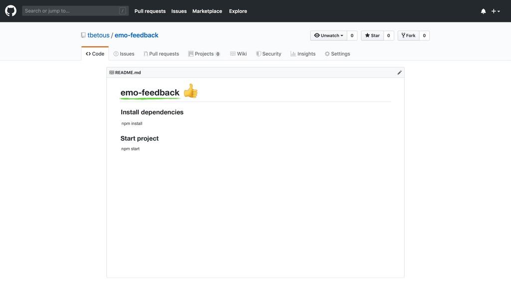 emo-feedback Install dependencies Start project...