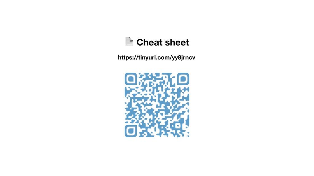 Cheat sheet https://tinyurl.com/yy8jrncv