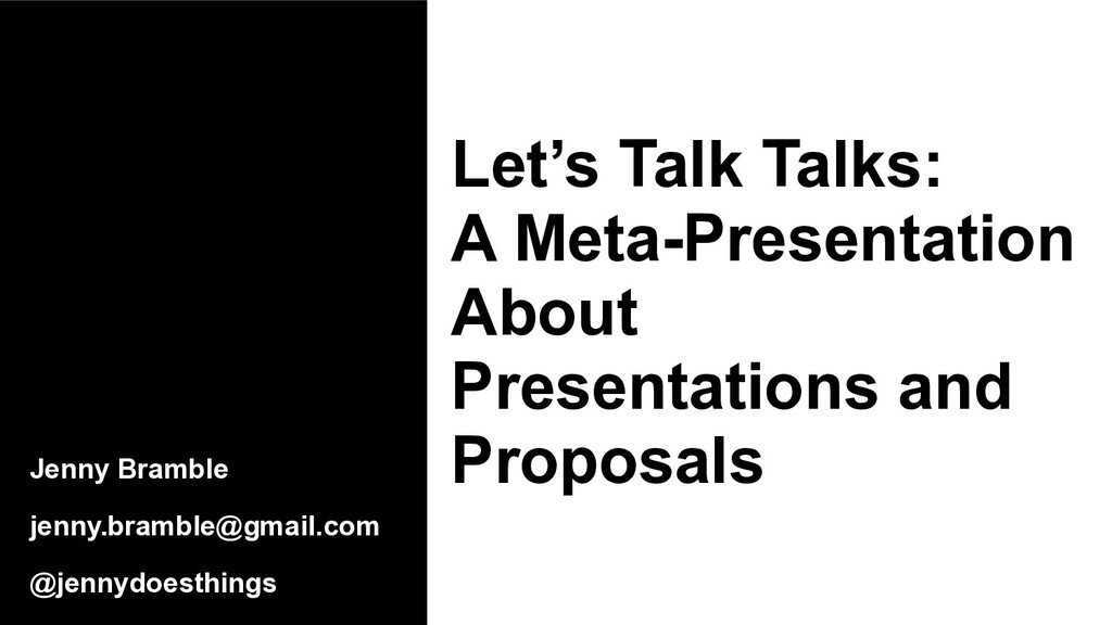 Let's Talk Talks: A Meta-Presentation About Pre...
