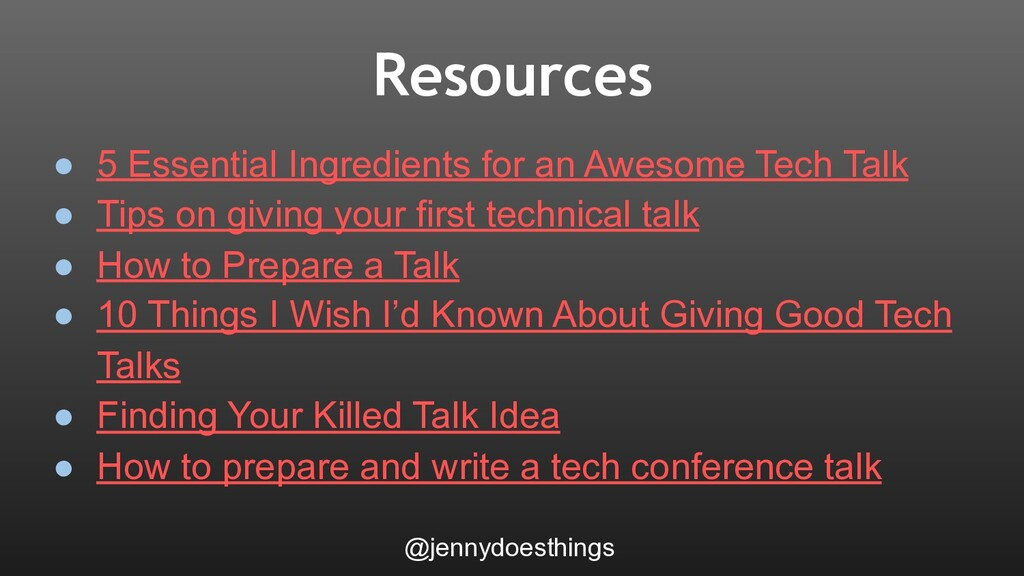 Resources @jennydoesthings ● 5 Essential Ingred...