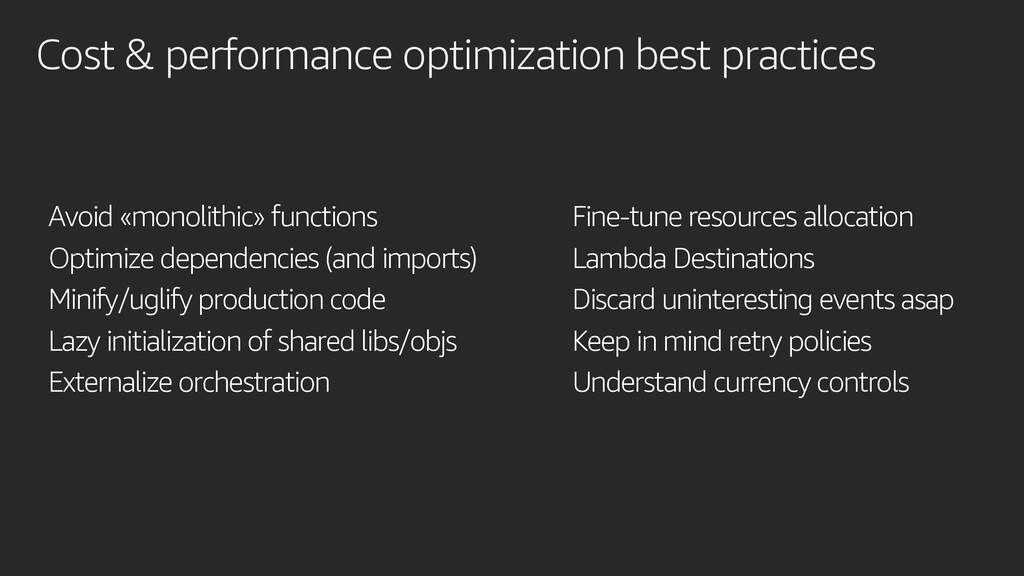 Cost & performance optimization best practices ...
