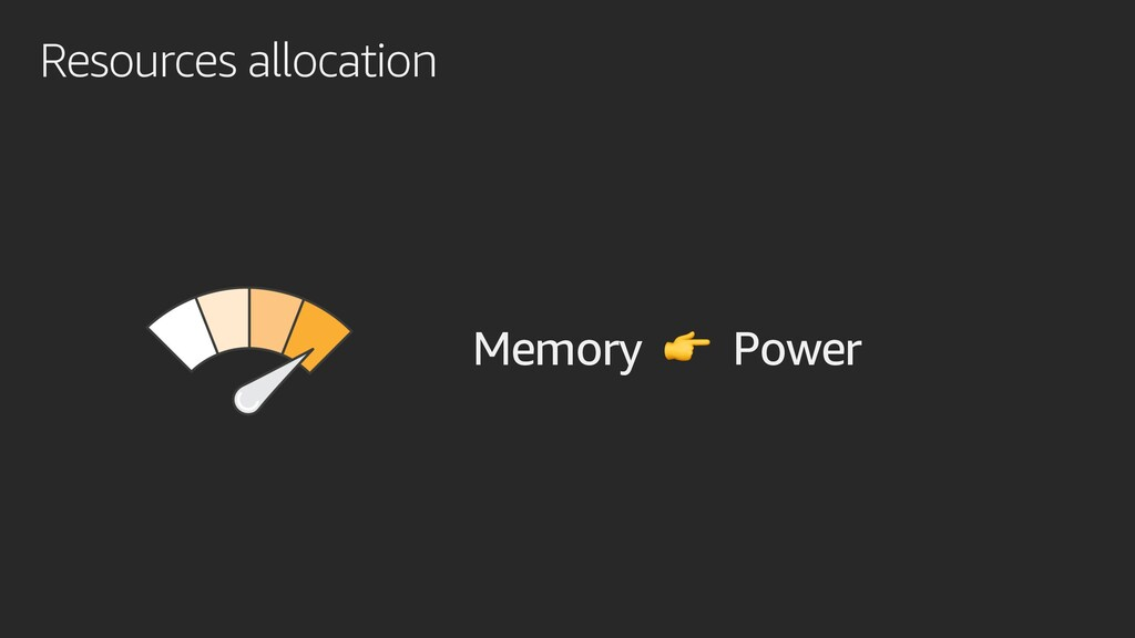 Resources allocation Memory  Power