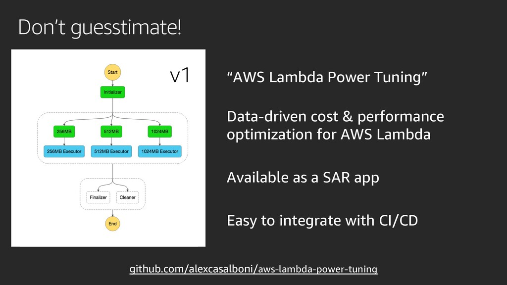 """AWS Lambda Power Tuning"" Data-driven cost & pe..."