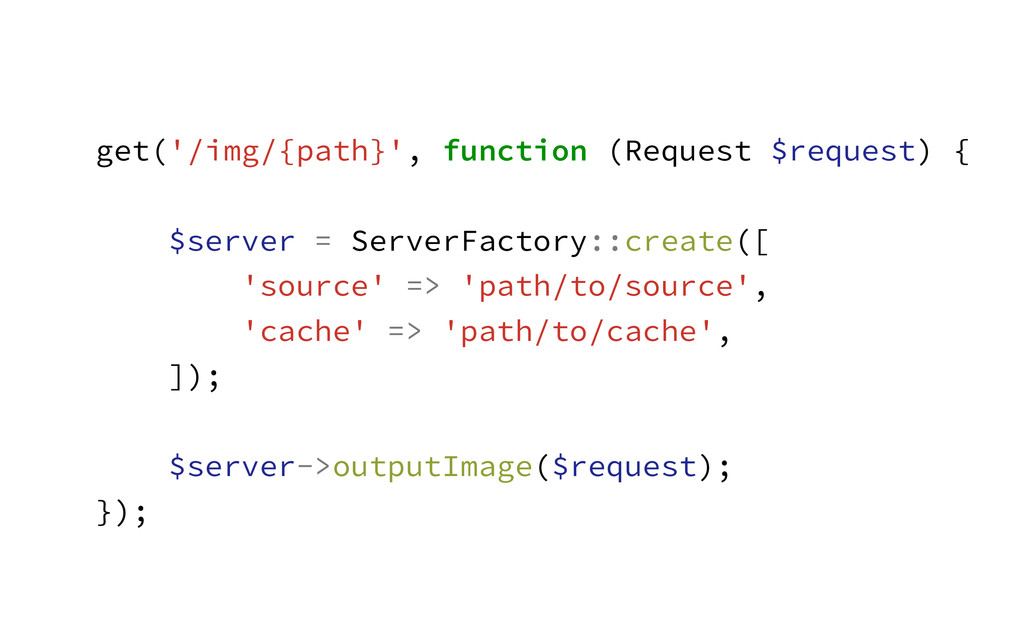 get('/img/{path}', function (Request $request) ...