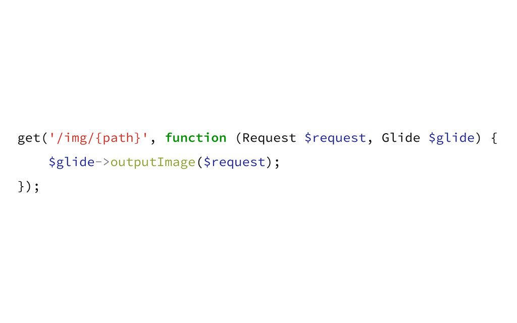 get('/img/{path}', function (Request $request, ...