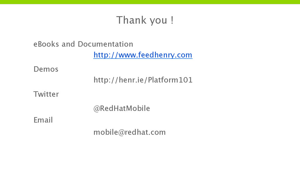 Thank you ! eBooks and Documentation http://www...