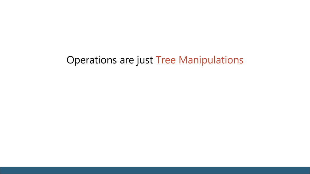 Operations are just Tree Manipulations