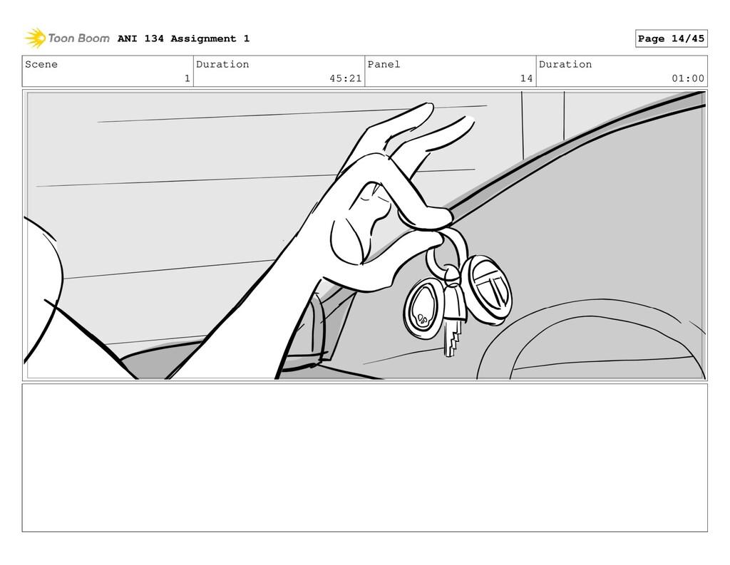 Scene 1 Duration 45:21 Panel 14 Duration 01:00 ...