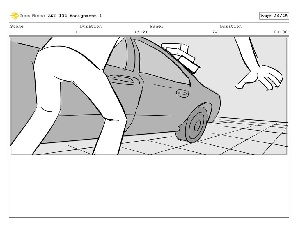 Scene 1 Duration 45:21 Panel 24 Duration 01:00 ...