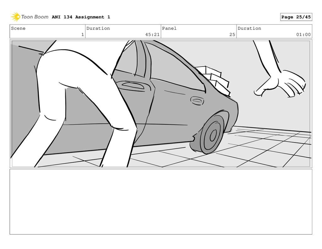 Scene 1 Duration 45:21 Panel 25 Duration 01:00 ...