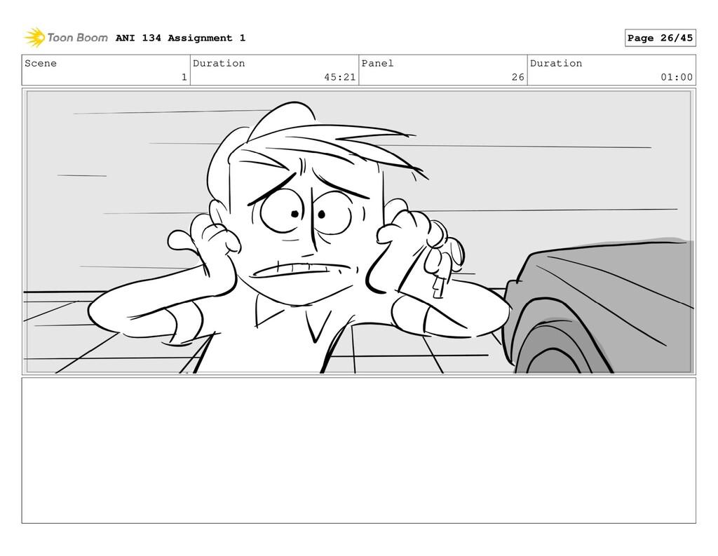 Scene 1 Duration 45:21 Panel 26 Duration 01:00 ...