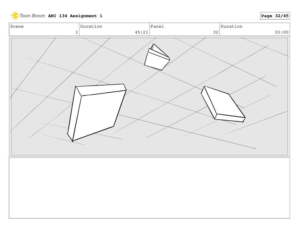 Scene 1 Duration 45:21 Panel 32 Duration 01:00 ...