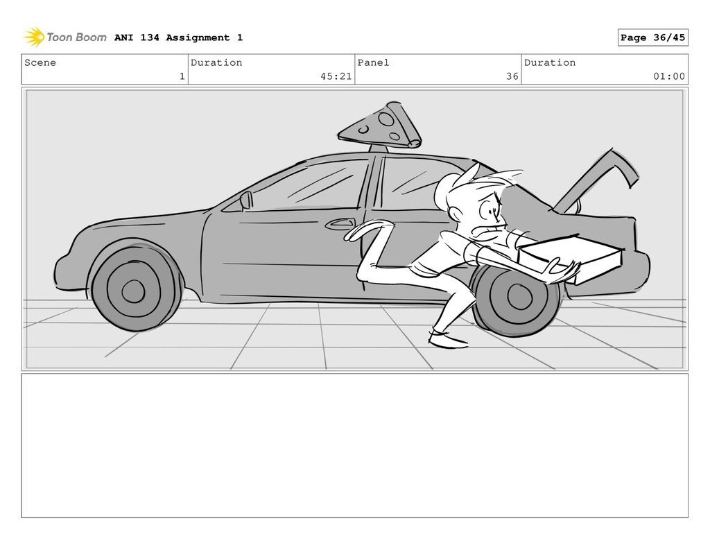 Scene 1 Duration 45:21 Panel 36 Duration 01:00 ...