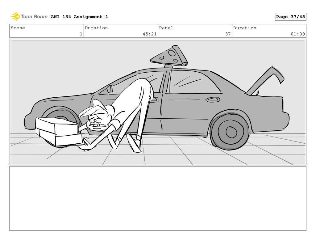 Scene 1 Duration 45:21 Panel 37 Duration 01:00 ...