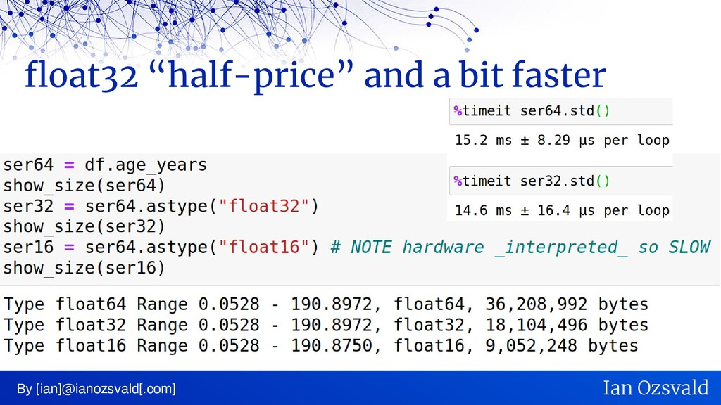 """float32 """"half-price"""" and a bit faster By [ian]@..."""