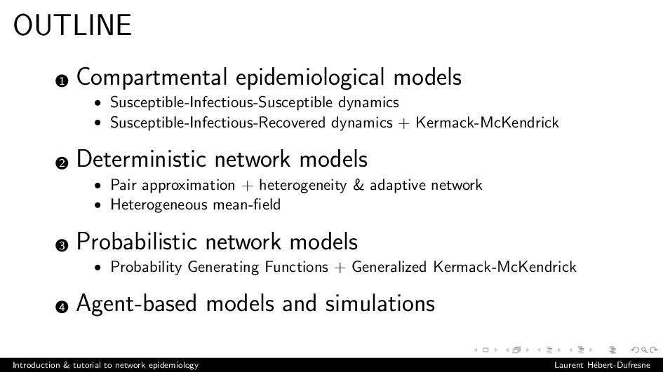 OUTLINE 1 Compartmental epidemiological models ...