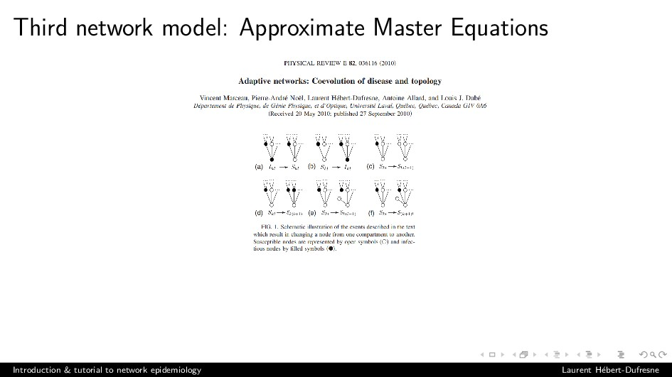 Third network model: Approximate Master Equatio...