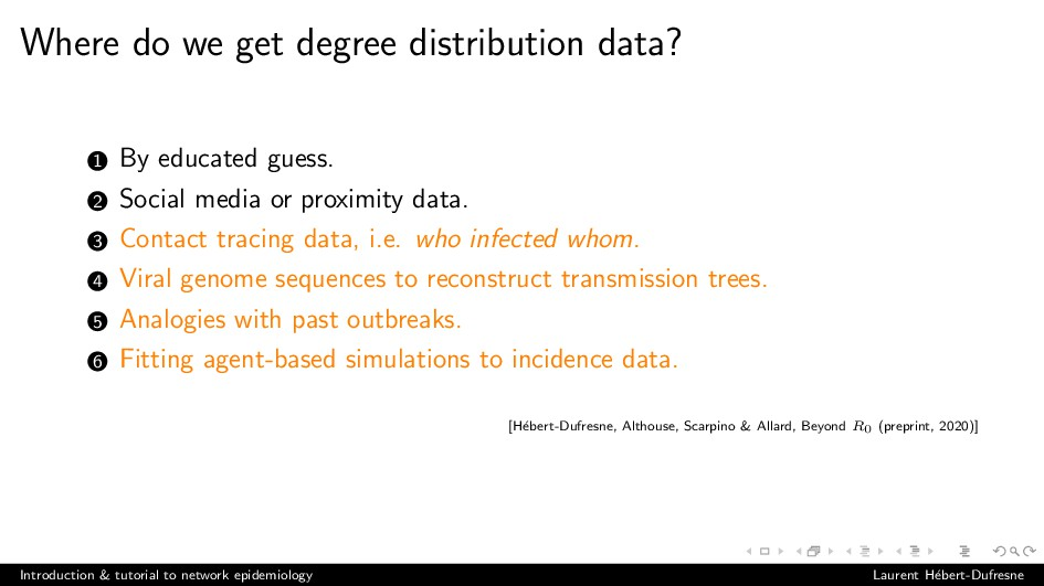 Where do we get degree distribution data? 1 By ...
