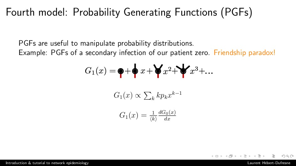 Fourth model: Probability Generating Functions ...