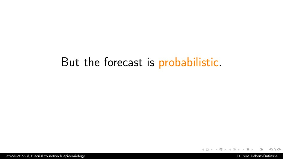 But the forecast is probabilistic. Introduction...