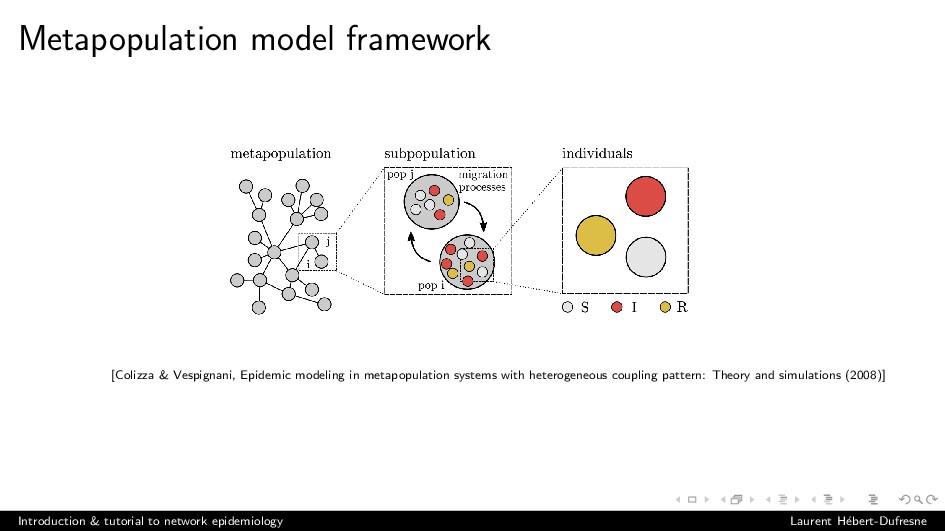 Metapopulation model framework [Colizza & Vespi...
