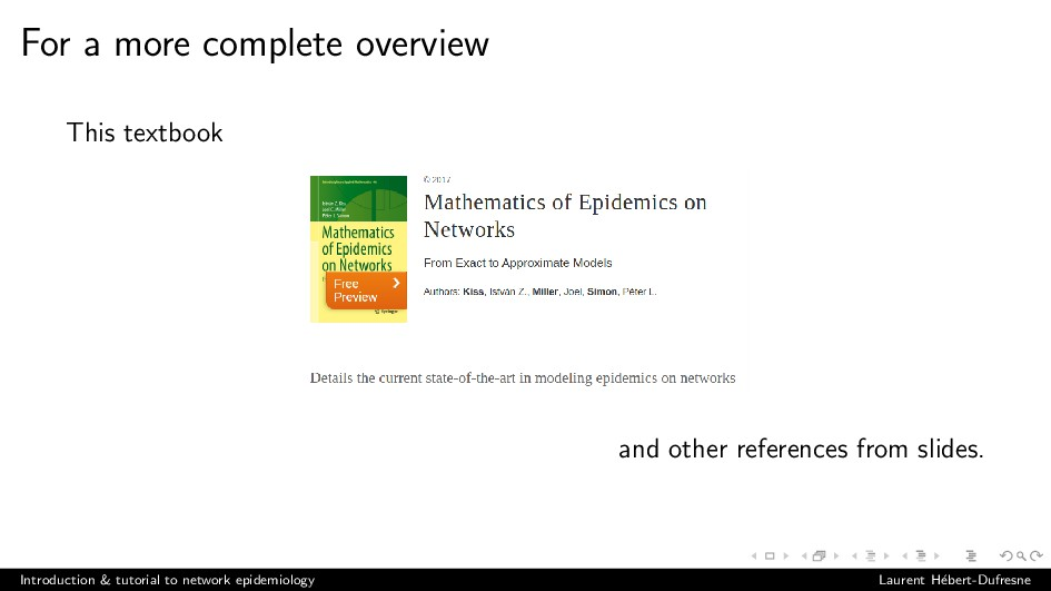 For a more complete overview This textbook and ...