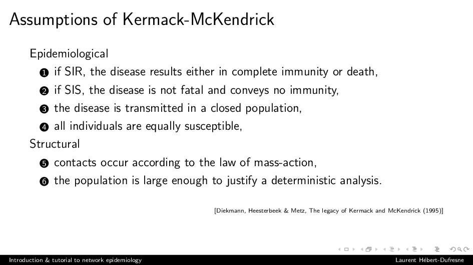 Assumptions of Kermack-McKendrick Epidemiologic...