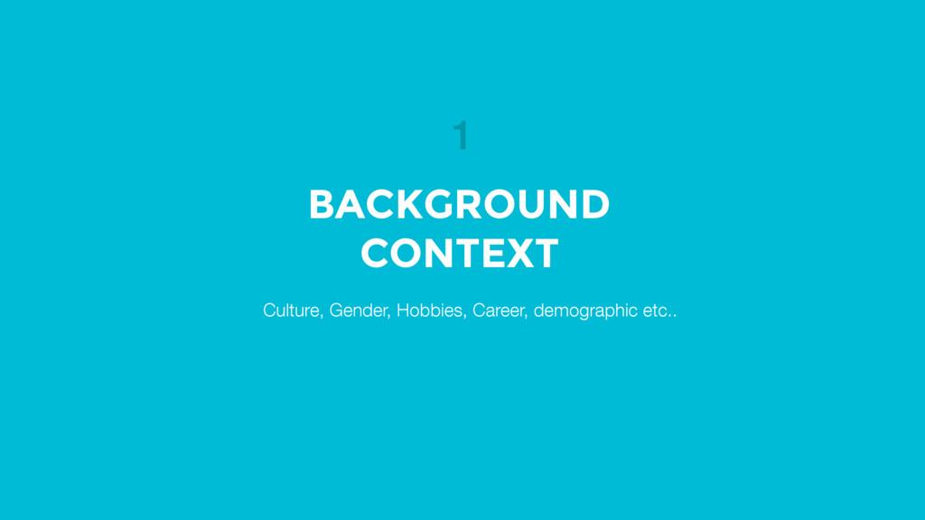 Culture, Gender, Hobbies, Career, demographic e...