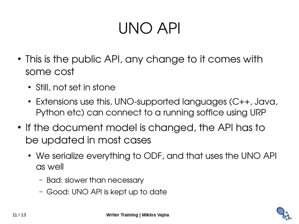 11 / 13 Writer Training   Miklos Vajna UNO API ...