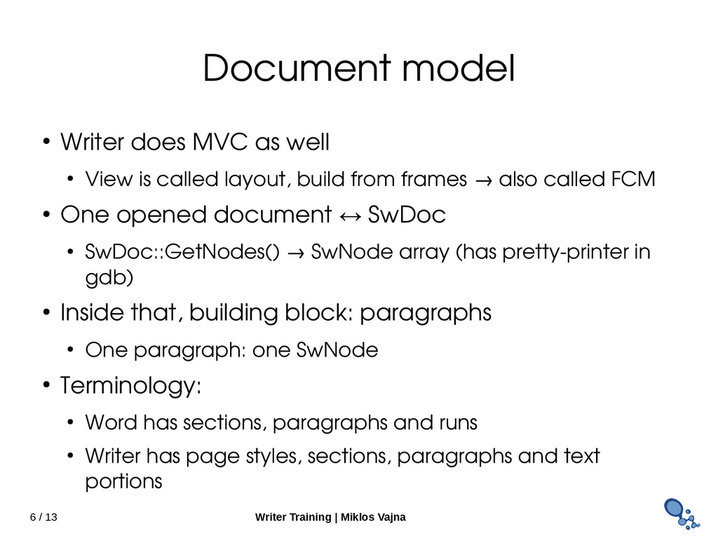 6 / 13 Writer Training   Miklos Vajna Document ...