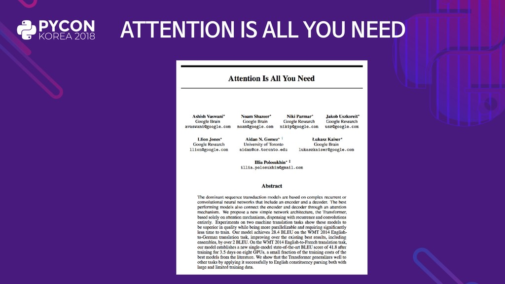 ATTENTION IS ALL YOU NEED