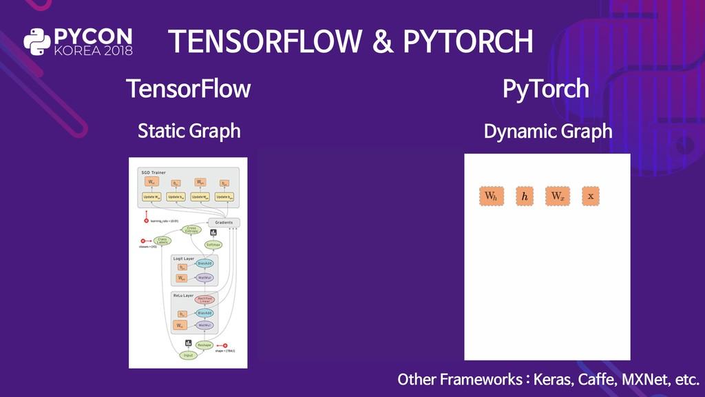 TENSORFLOW & PYTORCH TensorFlow PyTorch Other F...