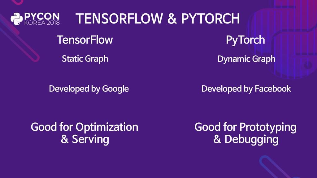 TENSORFLOW & PYTORCH TensorFlow PyTorch Static ...
