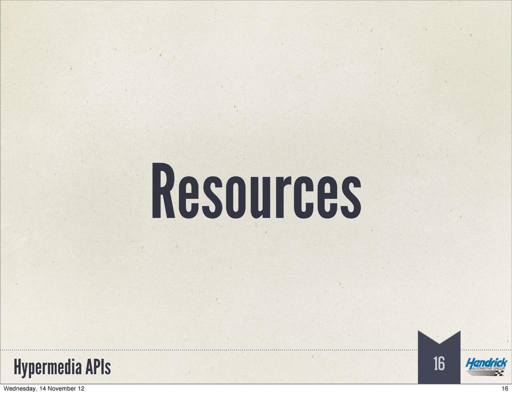 Hypermedia APIs Resources 16 16 Wednesday, 14 N...