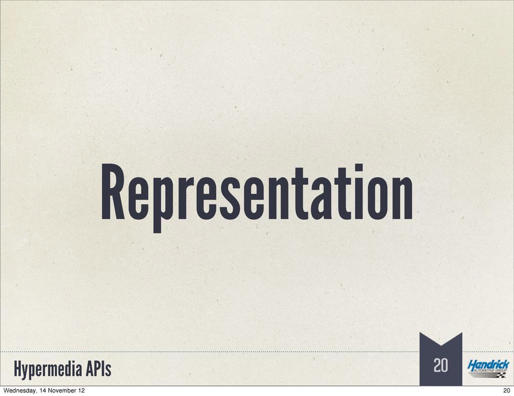 Hypermedia APIs Representation 20 20 Wednesday,...