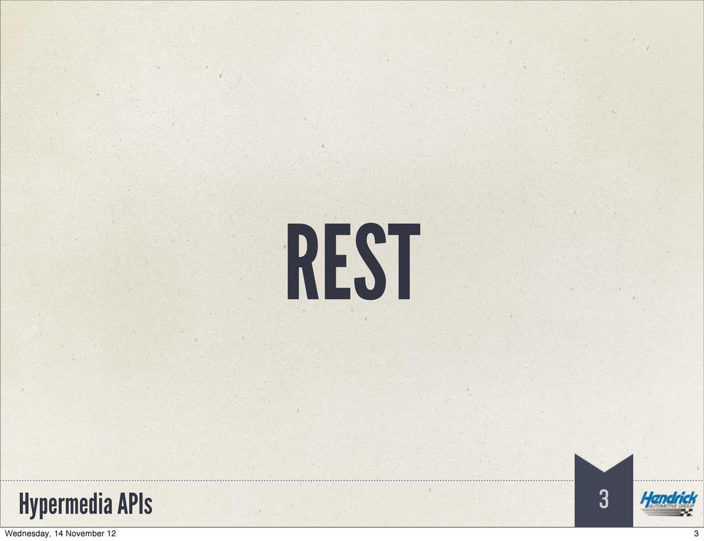 Hypermedia APIs REST 3 3 Wednesday, 14 November...