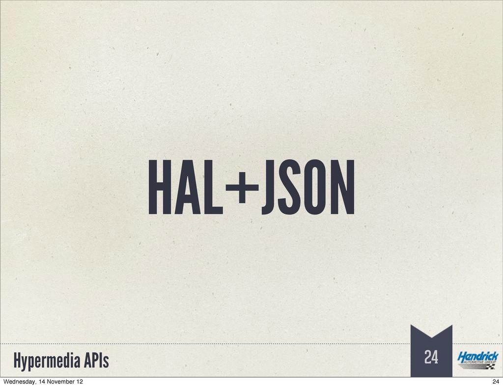 Hypermedia APIs HAL+JSON 24 24 Wednesday, 14 No...