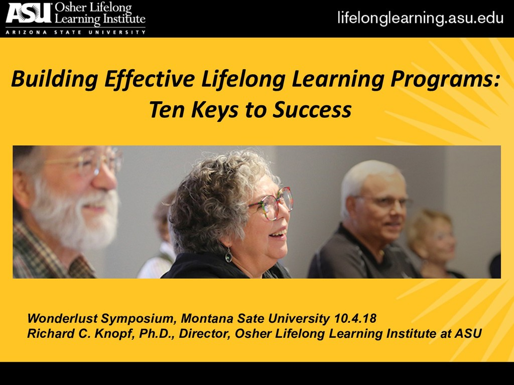 Building Effective Lifelong Learning Programs: ...