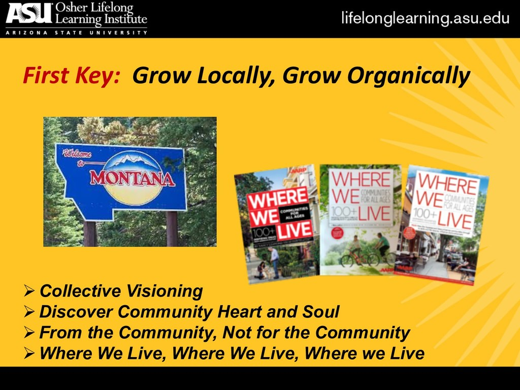 First Key: Grow Locally, Grow Organically ØColl...