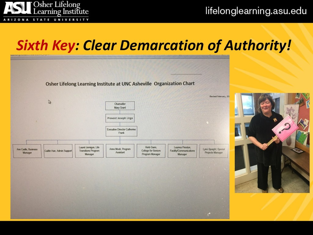 Sixth Key: Clear Demarcation of Authority!