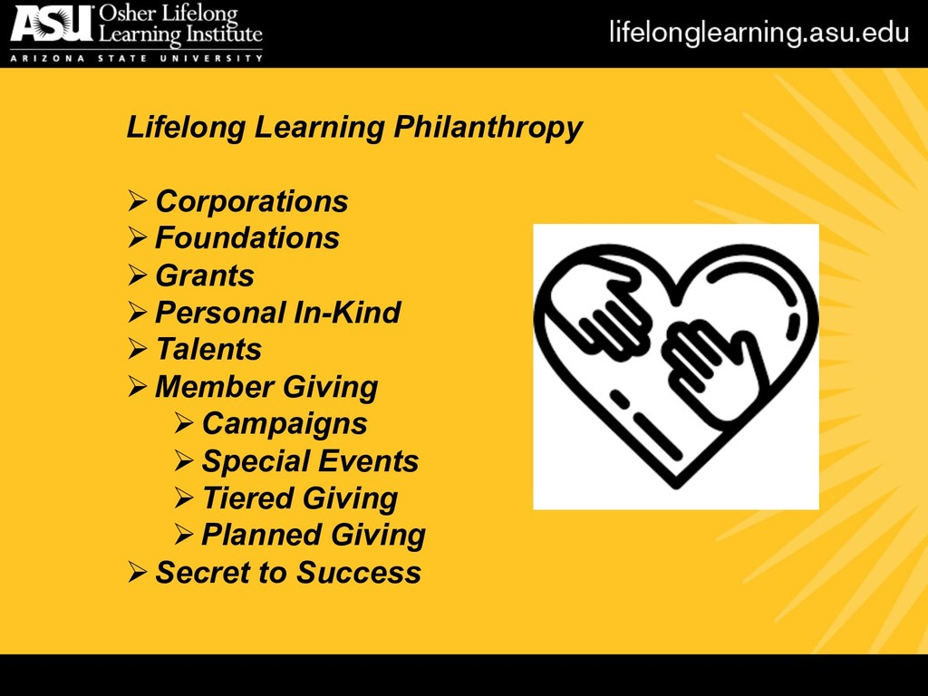 Lifelong Learning Philanthropy ØCorporations ØF...