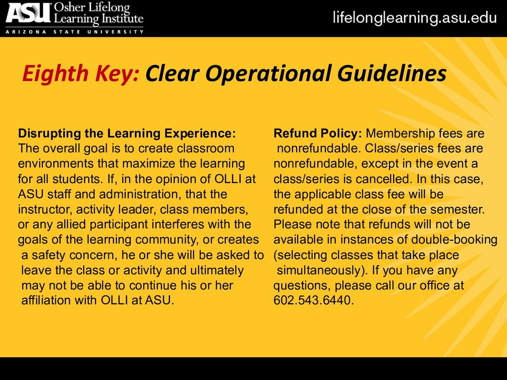 Eighth Key: Clear Operational Guidelines Disrup...