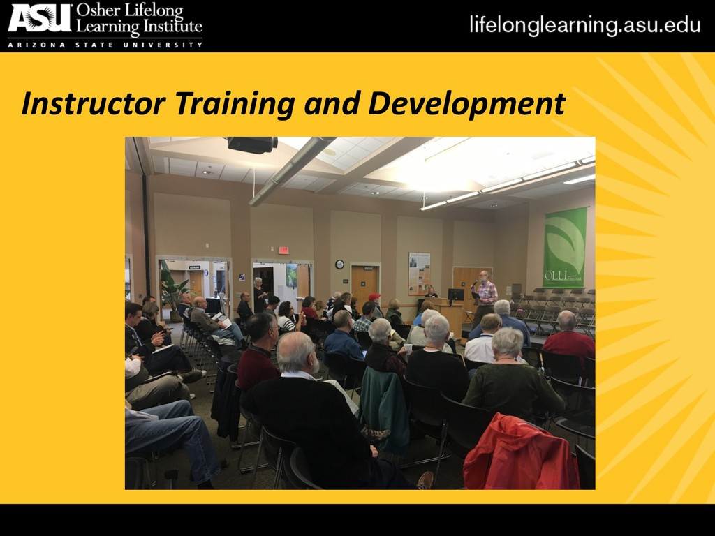 Instructor Training and Development