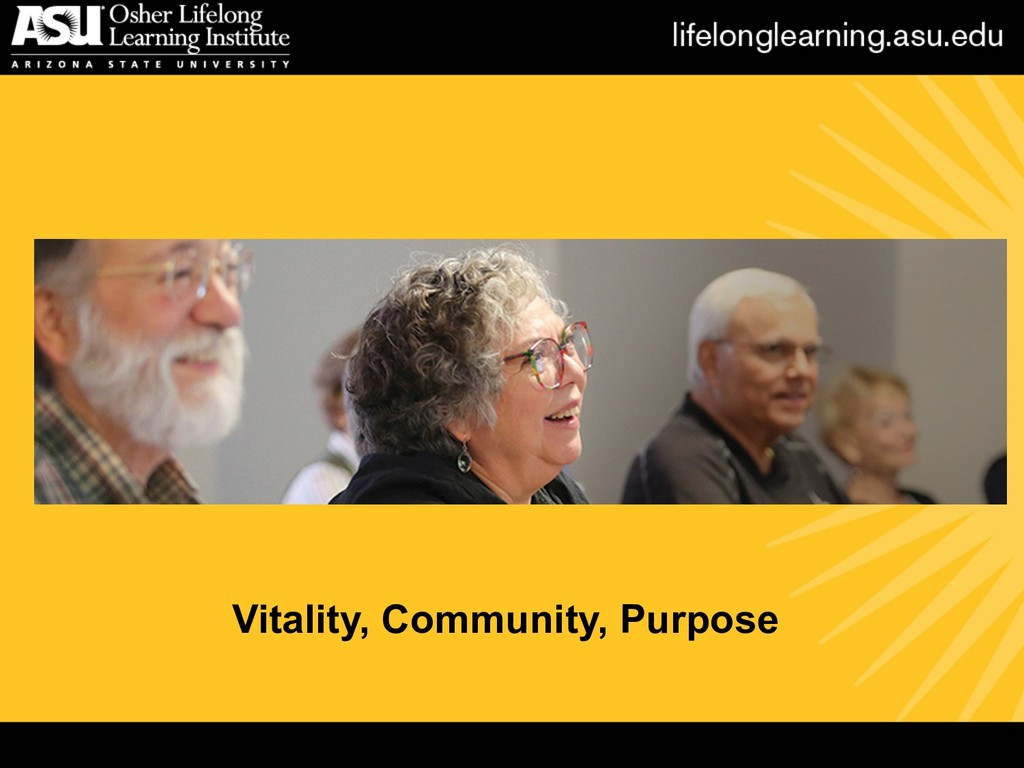 Vitality, Community, Purpose