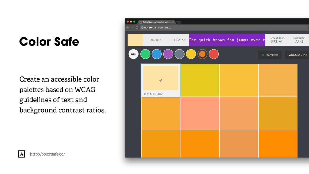 @radibit Color Safe h p://colorsafe.co/ Create ...