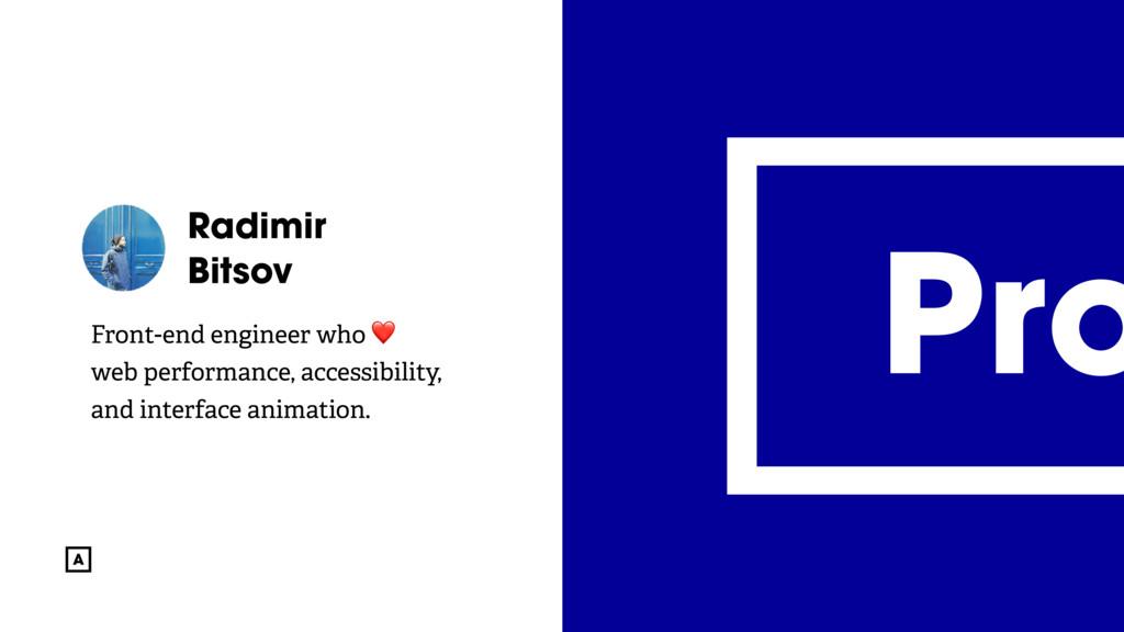 @radibit Radimir Bitsov Front-end engineer who ...
