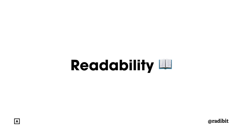 @radibit Readability