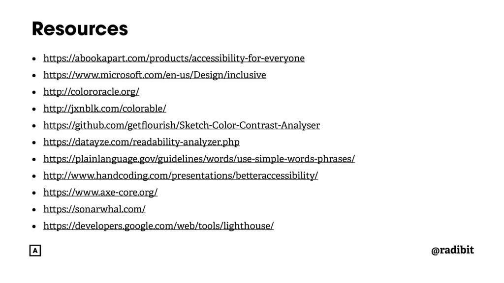 @radibit Resources • h ps://abookapart.com/prod...