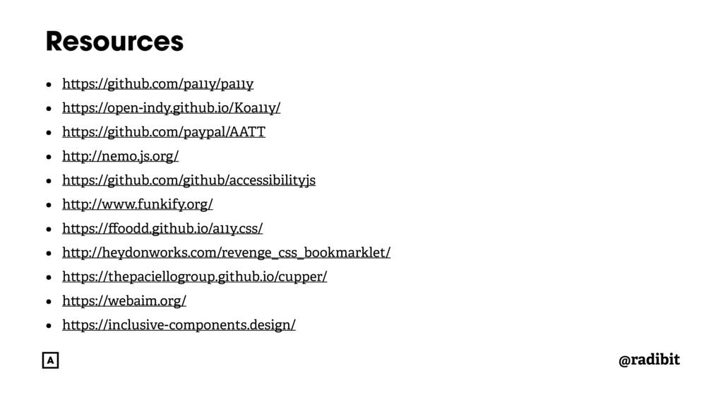@radibit Resources • h ps://github.com/pa11y/pa...